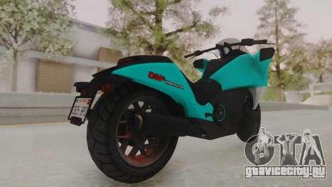 GTA 5 Dinka Vindicator SA Light для GTA San Andreas вид сзади слева