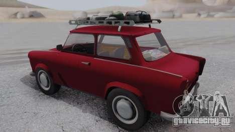 Trabant 601 для GTA San Andreas вид сзади слева