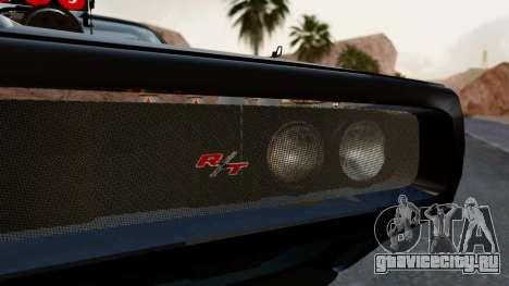 Dodge Charger from FnF4 для GTA San Andreas вид изнутри