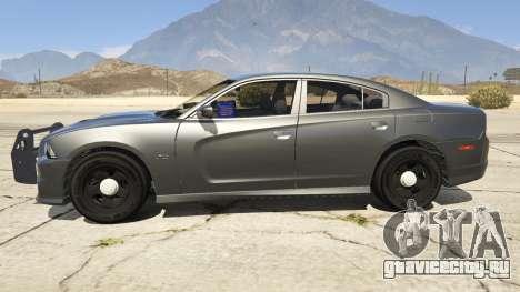 2012 Unmarked Dodge Charger для GTA 5 вид слева