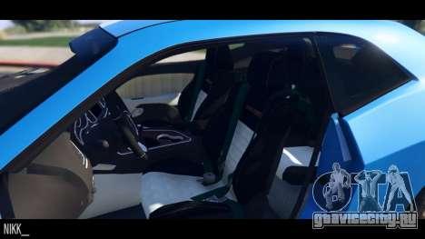 Dodge Challenger 2015 для GTA 5 вид сзади справа