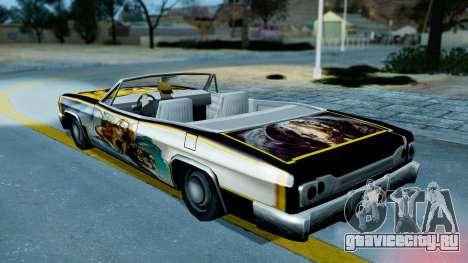 Slamvan New PJ для GTA San Andreas вид сзади