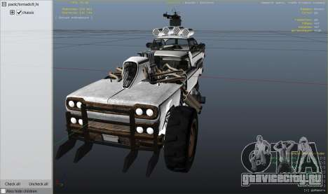Mad Max The Gigahorse для GTA 5 колесо и покрышка