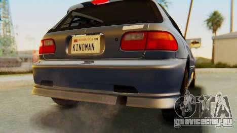 Honda Civic Vti 1994 V1.0 IVF для GTA San Andreas вид снизу