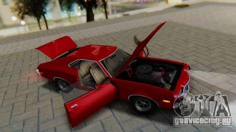 Ford Gran Torino Sport SportsRoof (63R) 1972 PJ1 для GTA San Andreas вид сзади