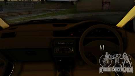 Honda Civic Vti 1994 V1.0 IVF для GTA San Andreas вид сзади слева
