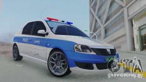 Dacia Logan Iranian Police для GTA San Andreas