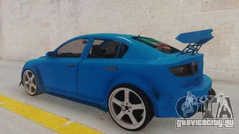Mazda 3 Full Tuning для GTA San Andreas вид сзади слева