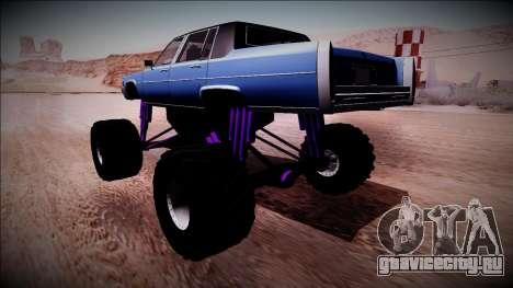 GTA 4 Emperor Monster Truck для GTA San Andreas вид слева