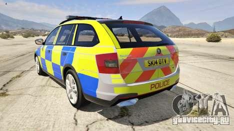 2014 Police Skoda Octavia VRS Estate для GTA 5