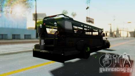 LGS Motors Eggtype Jeepney для GTA San Andreas вид сзади слева