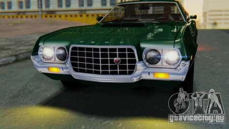 Ford Gran Torino Sport SportsRoof (63R) 1972 IVF для GTA San Andreas вид сзади слева