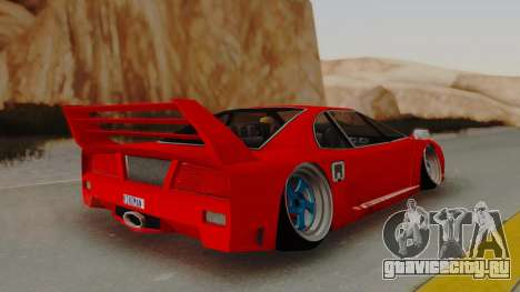 Turismo Saber X для GTA San Andreas вид слева