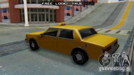 Taxi Version of LV Police Cruiser для GTA San Andreas вид сзади слева