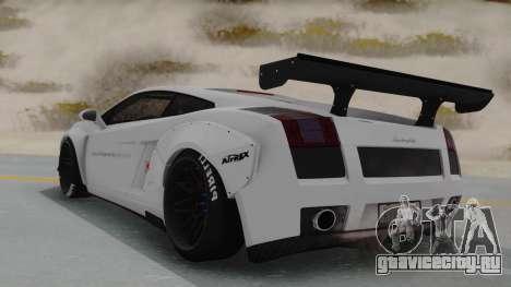 Lamborghini Gallardo 2005 LW LB Performance для GTA San Andreas вид слева