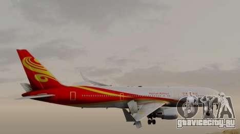 Boeing 767-300ER Hainan Airlines для GTA San Andreas вид сзади слева