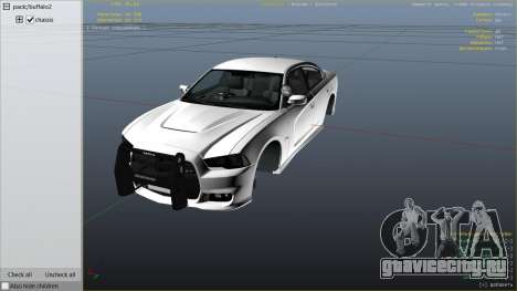 2012 Unmarked Dodge Charger для GTA 5 вид справа