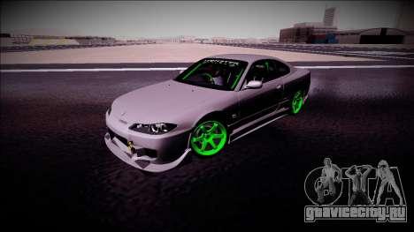 Nissan Silvia S15 Drift Monster Energy для GTA San Andreas вид изнутри