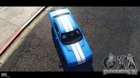 Dodge Challenger 2015 для GTA 5 вид слева
