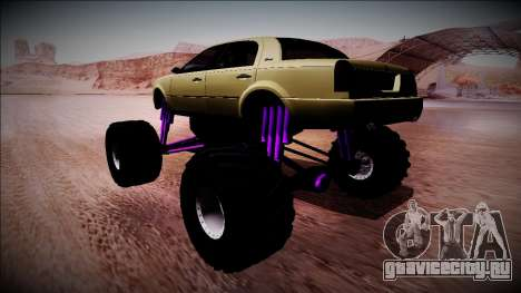 GTA 4 Washington Monster Truck для GTA San Andreas вид слева