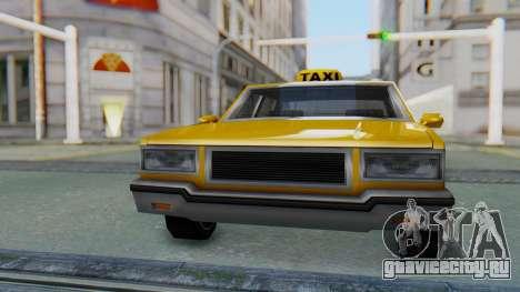 Taxi Version of LV Police Cruiser для GTA San Andreas вид справа