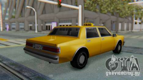 Taxi Version of LV Police Cruiser для GTA San Andreas вид слева