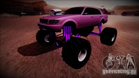 GTA 4 Washington Monster Truck для GTA San Andreas вид справа