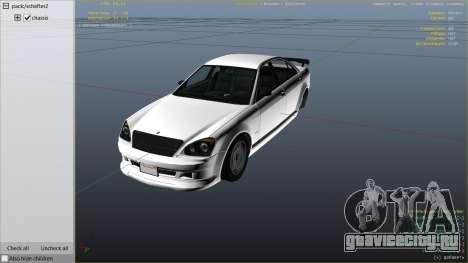 GTA 4 Schafter для GTA 5 вид справа