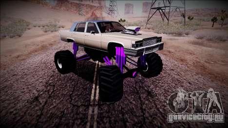 GTA 4 Emperor Monster Truck для GTA San Andreas вид изнутри