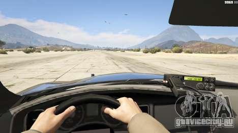 2012 Unmarked Dodge Charger для GTA 5 вид сзади