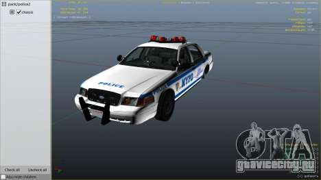 NYPD Ford CVPI HD для GTA 5 вид справа