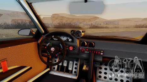 GTA 5 Karin Sultan RS Carbon IVF для GTA San Andreas вид сзади