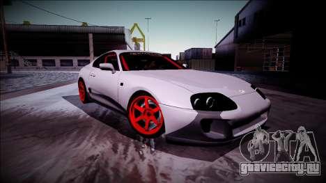 Toyota Supra Drift Monster Energy для GTA San Andreas вид сзади