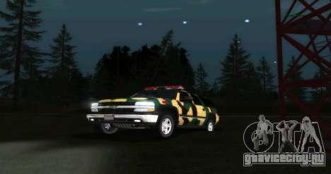 Chevrolet Suburban Сamouflage для GTA San Andreas вид сзади