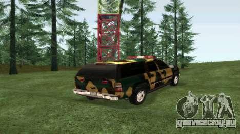 Chevrolet Suburban Сamouflage для GTA San Andreas вид слева