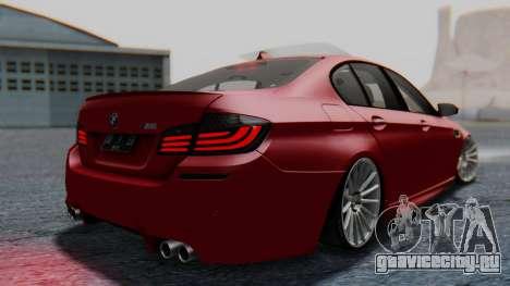 BMW M5 2012 Stance Edition для GTA San Andreas вид слева