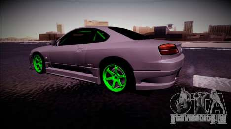 Nissan Silvia S15 Drift Monster Energy для GTA San Andreas вид сзади слева