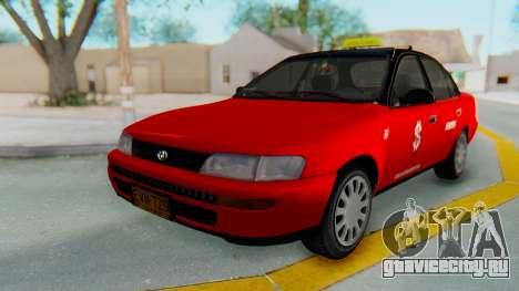 Toyota Corolla Dollar Taxi для GTA San Andreas