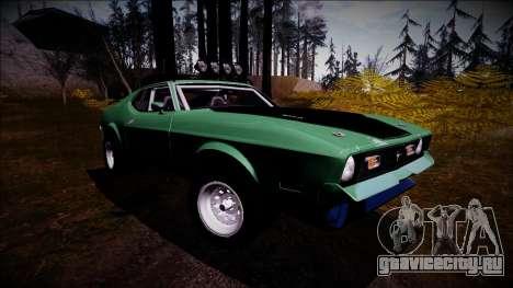 1971 Ford Mustang Rusty Rebel для GTA San Andreas вид справа