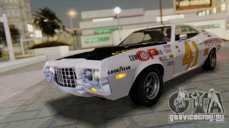 Ford Gran Torino Sport SportsRoof (63R) 1972 IVF для GTA San Andreas вид изнутри