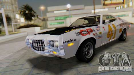Ford Gran Torino Sport SportsRoof (63R) 1972 PJ1 для GTA San Andreas вид сбоку