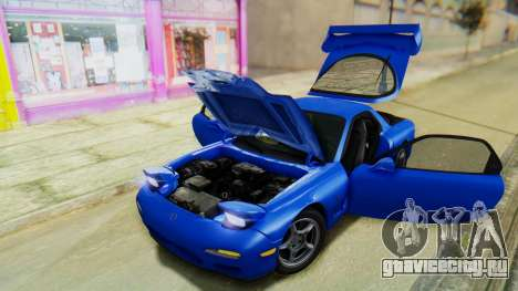 Mazda RX-7 1993 v1.1 для GTA San Andreas вид снизу