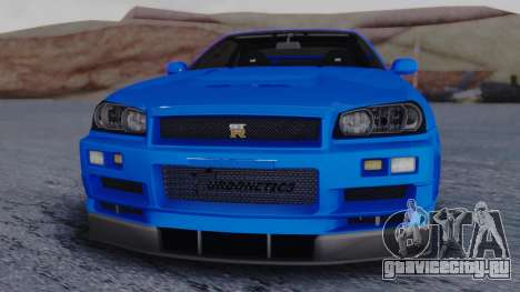 Nissan Skyline R34 Full Tuning для GTA San Andreas вид справа