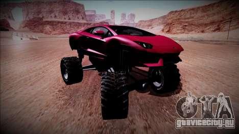 Lamborghini Aventador Monster Truck для GTA San Andreas вид сзади