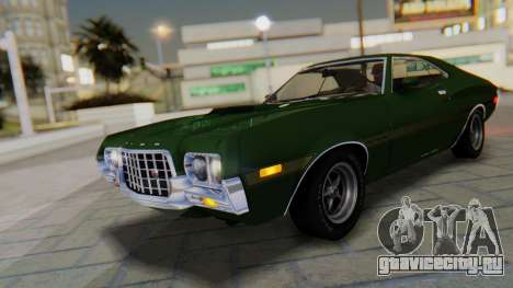 Ford Gran Torino Sport SportsRoof (63R) 1972 PJ1 для GTA San Andreas салон