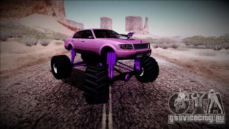 GTA 4 Washington Monster Truck для GTA San Andreas вид сзади