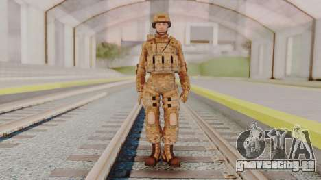 US Army Multicam Soldier from Alpha Protocol для GTA San Andreas второй скриншот