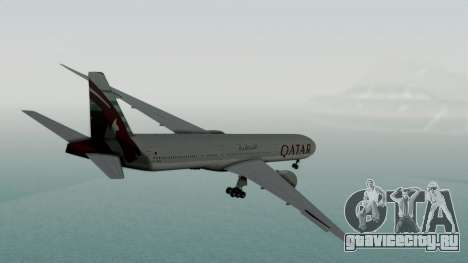 Boeing 777-9x Qatar Airways для GTA San Andreas вид слева