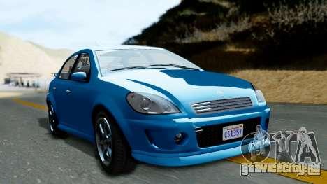 GTA 5 Declasse Premier для GTA San Andreas вид сзади слева