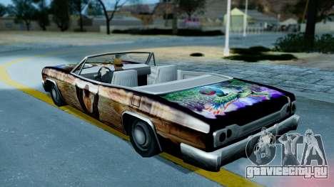 Slamvan New PJ для GTA San Andreas вид изнутри
